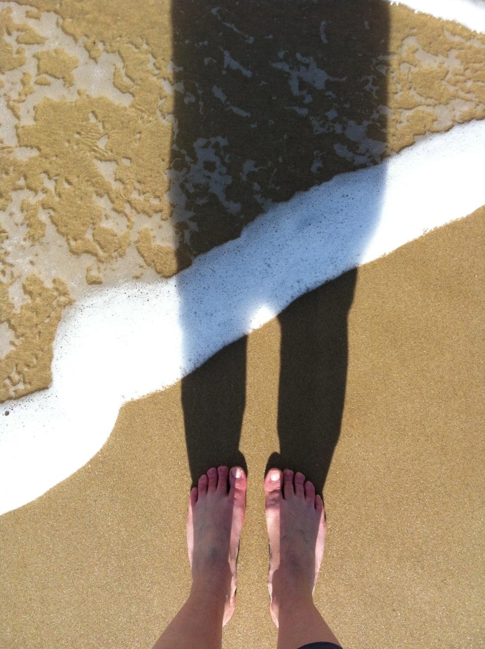 pieds bientôt dans l'eau
